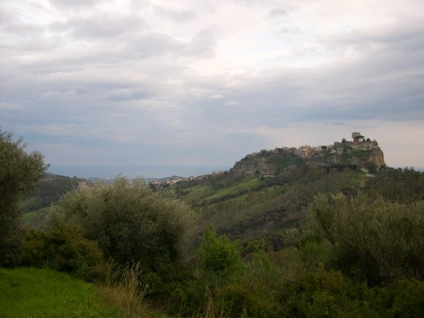 Looking up at Caulonia from the East.