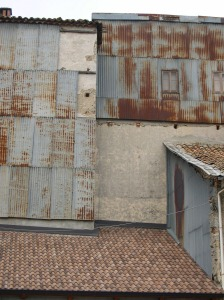 Side of a house facing the river Serra San Bruno