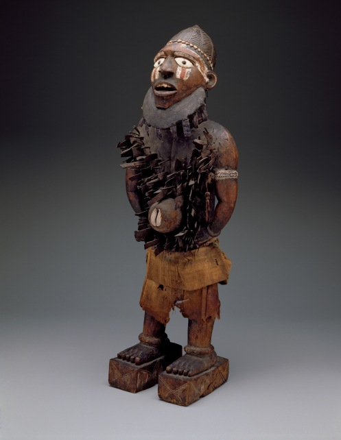 Standing power figure (nkisi nkondi)