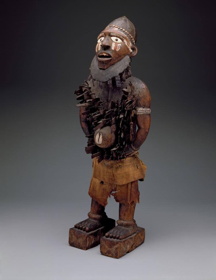 Standing power figure (nkisi nkondi)