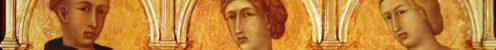 Three Saints (oil on panel) by Lorenzetti